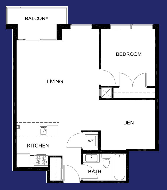 1 Bedroom with Den